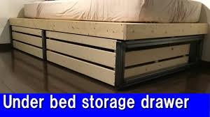 under bed storage diy diy under bed storage drawer youtube