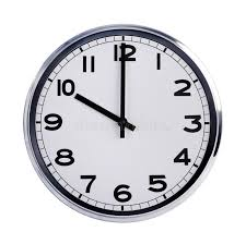 horloge sur le bureau l horloge ronde de bureau montre dix heures photo stock image
