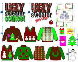 ugly sweater clipart black and white clipartxtras