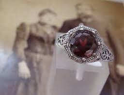 42 best bagues grenat images on pinterest rings garnet and