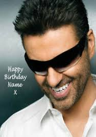 george michael happy birthday george michael a5 personalised birthday card any name printed
