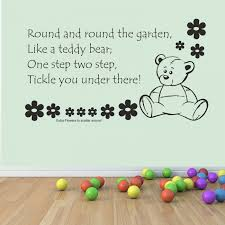 Nursery Rhyme Wall Decals Children S And The Garden Vinyl Wall Decal Sticker For