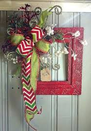 Christmas Wreath Decorations Pinterest by Vintage Red Christmas Frame Christmas Home Decor Pinterest