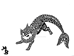vaporeon tribal tattoo by exenne on deviantart