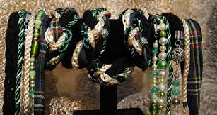 celtic handfasting cords handfasting cord in tartan and green satin with