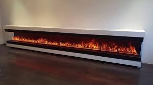 linear fireplace with opti myst 1000 burners by dimplex youtube