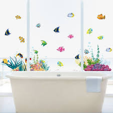 home decor 3d stickers home decor underwater 1 pc wall stickers sea fish star box
