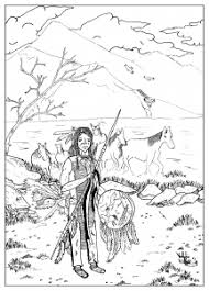 native indian american woman native american coloring pages