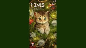 galaxy theme christmas kitty animated lockscreen youtube
