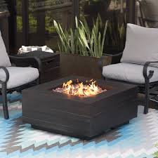 red ember bozeman square propane fire table with optional tank