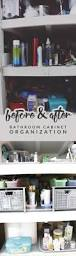 before u0026 after bathroom cabinet organization renovation hello