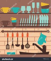 Kitchen Sink Clip Art Vector Colorful Kitchen Sink Utensil Kitchen Stock Vector