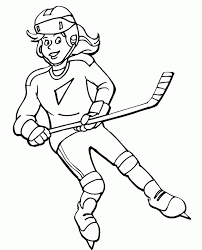free printable hockey coloring pages kids hockey players