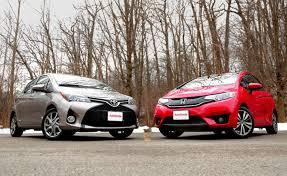 toyota yaris vs corolla comparison 2015 honda fit vs 2015 toyota yaris autoguide com