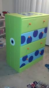 A dresser my best friend painted for our Monsters Inc themed