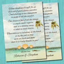 Wedding Gift Money Poem Honeymoon Wedding Gift List Uk Imbusy For