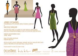 boutique inauguration invitation nicole miller invitation frances pabon llc
