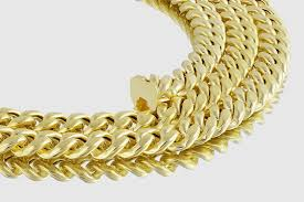 solid yellow gold necklace images 7mm 14k miami link cuban semi solid yellow gold necklace jpg