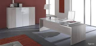 Modern Glass Desks For Home Office by Tempered Glass Room Partitions Without Frame In Modern Office