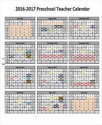 teacher calendar templates 7 free word pdf format download