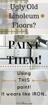 how to paint old linoleum kitchen floors floor painting iron