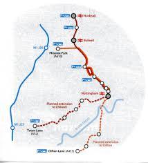 Light Rail Map Phoenix by Nottingham Express Transit Net