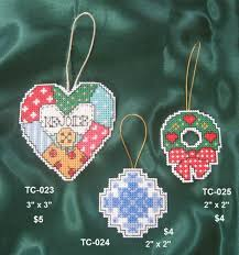 cross stitch tree ornaments joyce u0027s country painting