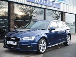 audi a3 scuba blue used audi a3 sportback 1 6 tdi s line 5door s tronic for sale in