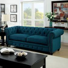 adorable blue tufted sofa with roll arm gray blue tufted sofa