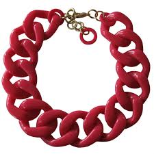red chain link necklace images Made in italy chain link necklace glossy resin chic24hours jpg