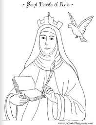 saint teresa avila coloring october 15th u2013 catholic