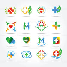 medical pharmacy and health care logo design templates icons set