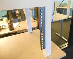 how to add an adjustable height keyboard shelf to your 20