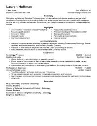 Resume Examples For Students by Best Professor Resume Example Livecareer