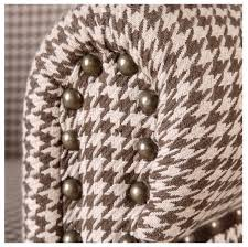 and country houndstooth club chair