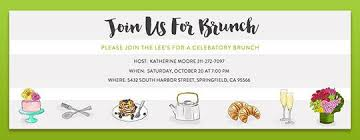 brunch invitation template free brunch lunch get together invitations evite