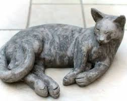 Cat Laying On Glass Table Cat Sculpture Etsy