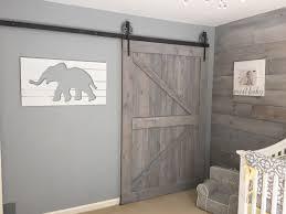 shabby chic nursery shiplap barn door whitewash gray u0026 yellow