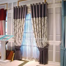 Decorative Curtains Beige And Coffee Elegant Decorative Modern Print Curtains
