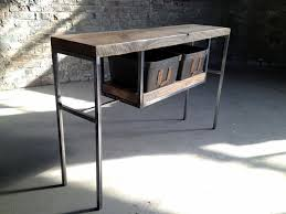 wood and metal console table with drawers living room entrance table with drawers long narrow table behind