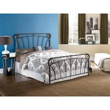 country style beds queen size metal bed in blackened silver finish french country