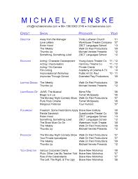 Acting Resume Template Word Microsoft 24 Actor Resume Example Acting Resume Sample Download Free