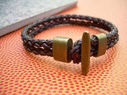 leather ladies bracelet images Toggle clasp braided leather bracelet mens bracelet mens jewelry jp