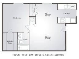 1 bedroom apartment floor plans u0026 pricing u2013 ridgemar commons