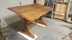 Oak Drafting Table by Adjustable Drafting Table Inspired By The Unplugged Woodshop Tom