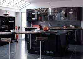 black gloss kitchen ideas stunning black kitchen ideas shift home decoration to level