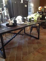 Grande Table Industrielle by Tables Industrielles L U0027or Du Temps Mobilier Industriel