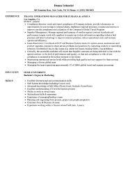 exle management resume travel operations manager resume sles velvet