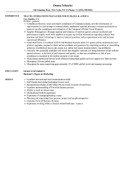 operations manager resume travel operations manager resume sles velvet