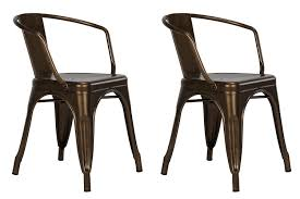 Metal Dining Room Chair Amazon Com Dhp Elise Metal Dining Chair Set Of 2 Antique